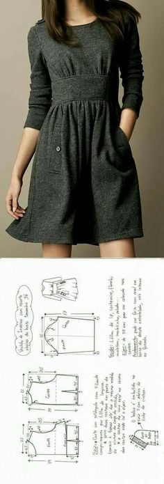 winter cloth dress make your own dress with this sewing tutorial and sewing pattern for more sewing patterns sewing tips and sewing tutorials visit httpyou made my daycom - PIPicStats Sewing Patterns Free, Free Sewing, Sewing Tutorials, Clothing Patterns, Dress Patterns, Sewing Tips, Dress Tutorials, Pattern Sewing, Design Patterns