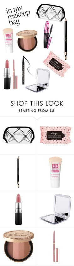 """""""#mymakeupbag"""" by simonagc84 ❤ liked on Polyvore featuring beauty, Illamasqua, Clarins, Maybelline, MAC Cosmetics, Too Faced Cosmetics and Stila"""