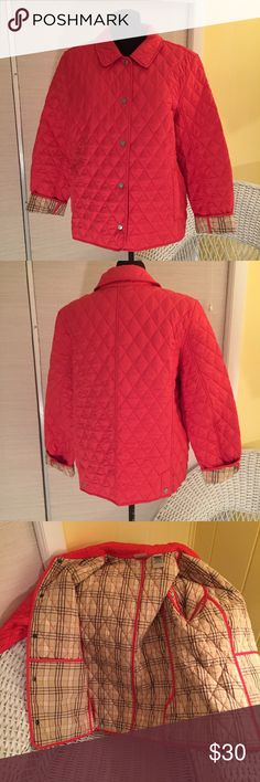 Quilted Jacket by L.L. Bean EUC. MATERIAL:  Shell: 100% Polyester. Lining: 100% Cotton. Insulation: 95% polyester and 5% recycled polyester. MEASUREMENTS: Shoulder Width - 18 inches, Body Width Side Seam to Side Seam- 23 inches, Back Length - 24.5 inches. COLOR: Coral LL Bean Jackets & Coats