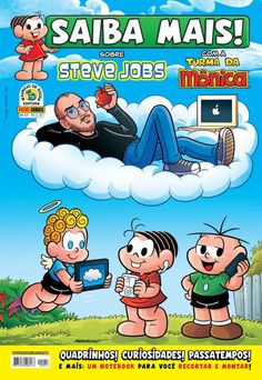 Turma da Monica conta a historia de Steve Jobs em nova HQ