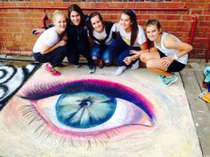 One of our school projects..Paving #art #pastel #photo #iphone #eye #street