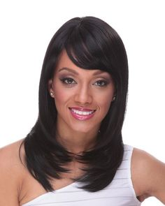 Straight Brazilian remy hair full lace 14 inches black color swiss lace wig