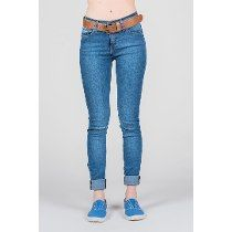Jean Mujer Cook Alexa High Rise Roll Up Mid Blue Original