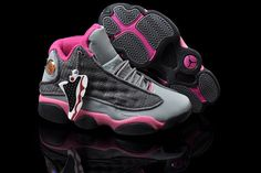 Nike Air Jordan 13 XIII Women Shoes In Grey And Pink cakepins.com