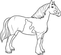 Dibujo para colorear de caballos (nº 8)