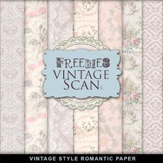 Far Far Hill - Free database of digital illustrations and papers: Freebies Vintage Style Romantic Paper