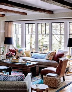 Designer Thom Filicia gives a visual tour of his home featuring Japanese Paper Weave 1679 Natural/Black and Manila Hemp 3444 Graphite.