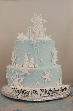 winter onederland - the cake! Frozen cake