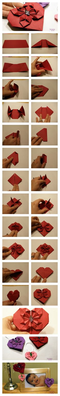 coração You have my heart – DIY Origami Hearts – attach them to anything Heart Shaped Deco Diy Origami, Origami Tutorial, Origami Paper, Diy Arts And Crafts, Diy Craft Projects, Paper Crafts, Diy Crafts, Valentines Bricolage, Valentines Diy