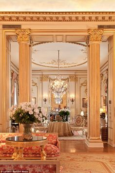 A pillar of show business: Like Joan Rivers, who died last week at 81, the New York apartment lined with pillars and mirrors is a star of the city. It is now valued at around $35million