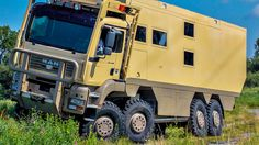 The  Top Cat XXL Unicat is one of the toughest RVs on the market and can handle almost any terrain. If the Top Cat ever runs into trouble, the tires can deflate to as low as 7 PSI for crossing extra-rugged terrain.