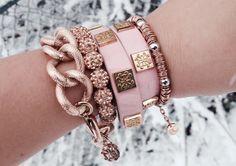 Pink & Rose Gold - Rustic Cuff
