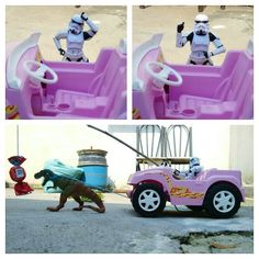 Car stormtrooper #stormtrooper #car #candy #dinosaur #toy #toys #actionfigures #funny