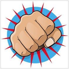 Pop Art Style Punching Fist Photography by Eazl, Orange