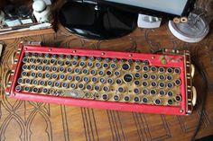 Clavier ordinateur pc steampunk victorien or et par GreatShinigami