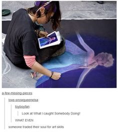 Beautiful Frozen art<----someone traded their soul for art skills? They only have 10 years! Disney Love, Disney Magic, Disney Art, Disney Stuff, Frozen Art, Disney Frozen, Tumblr Funny, Funny Memes, Hilarious