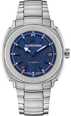 Find the famous collection of Terrascope JEANRICHARD, Swiss sports watch for men inviting the discovery of the Earth. Dream Watches, Sport Watches, Luxury Watches, Watches For Men, Stainless Steel Bracelet, Stainless Steel Case, Jean Richard, Water Logo, Pre Owned Watches