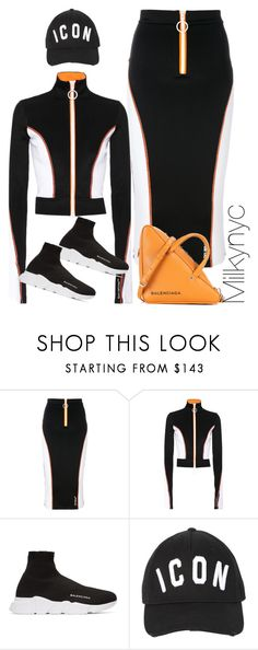 """""""Untitled #1019"""" by milkynyc ❤ liked on Polyvore featuring Off-White, Balenciaga and Dsquared2"""