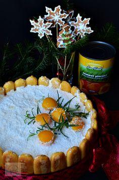 Tort diplomat cu piersici din compot - CAIETUL CU RETETE Camembert Cheese, Dairy, Desserts, Food, Tailgate Desserts, Deserts, Essen, Postres, Meals