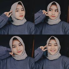 Casual Hijab Outfit, Ootd Hijab, Girl Hijab, Hijab Chic, Selfie Tips, Selfie Poses, Selfie Ideas, Muslim Girls, Muslim Women