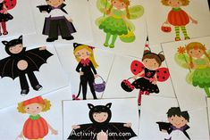 Printable Costume Cards and 4 Game Ideas