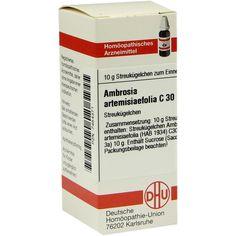 AMBROSIA artemisiifolia C 30 Globuli:   Packungsinhalt: 10 g Globuli PZN: 07454371 Hersteller: DHU-Arzneimittel GmbH & Co. KG Preis: 5,50…
