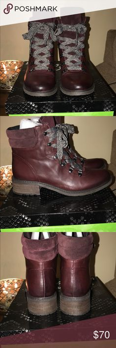 Sam Edelman boots Sam Edelman women ankle boot in wine color size 8.5 Sam Edelman Shoes Ankle Boots & Booties