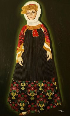 Greek Traditional Dress, Traditional Outfits, Ancient Greek Costumes, Skiathos, Folk Dance, Folk Costume, Fiber Art, Aurora Sleeping Beauty, Disney Princess