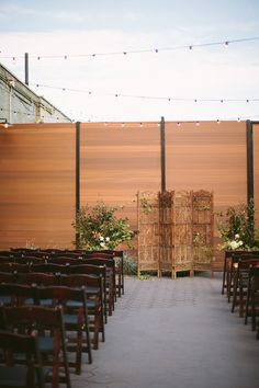 Love seeing our beautiful teak screen used as a ceremony backdrop!