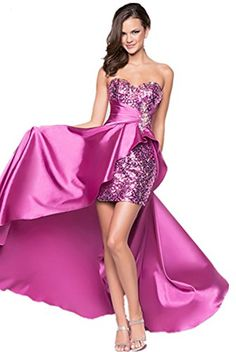LL3 Sequined Evening Dresses party full length prom gown ball dress robe High Low A-line Strapless (8, Purple) LondonProm http://www.amazon.co.uk/dp/B00QUC8RQG/ref=cm_sw_r_pi_dp_7FnIub0VZM8MN