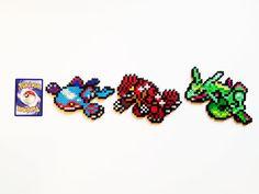Pokemon Generation 3 Legendaries Perler - Kyogre / Groudon / Rayquaza on Etsy, $3.00