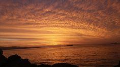 Por do sol em Viña del Mar, Chile