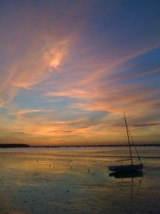 Poole Harbour - great sky.