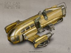 Sky Cab - dieselpunk retrofuture