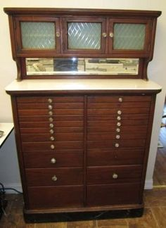 Amazing Antique Dental Cabinet Early 1900 S
