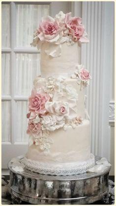 Image result for rose wedding cake