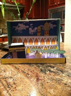 Eid ul Adha Crafts Make a pizza box or shoe box diorama for Eid AlAdha or ramadan. Great recycle craft!