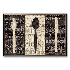 "Art.com ""Kitchen Words Trio"" Framed Art Print"