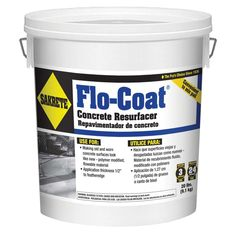 SAKRETE Flo-Coat is a flowable product used to rejuvenate old concrete surfaces. It's a great alternative to expensive concrete replacement. A polymer modified, flowable resurfacing material for making old concrete surfaces look new again. Concrete Porch, Concrete Driveways, Concrete Floors, Walkways, Spalling Concrete, Concrete Overlay, Concrete Molds, Concrete Steps, Home Remodeling Diy