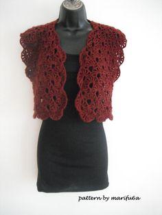 Elegant crochet sweet shrug bolero jacket by crochettutorial, $3.99