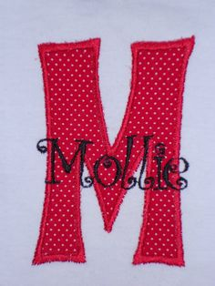 monogram applique design