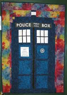Make a TARDIS Quilt for Your Favorite Doctor Who Fan: About the TARDIS Quilt Pattern My Son and I are hooked and this would make a faNTASTIC QUiLt