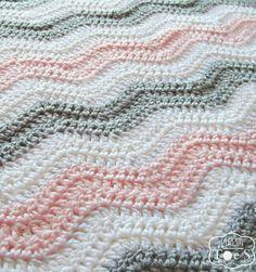 Chevron gris rosado bebé manta vivero gris rosado por puddintoes