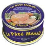 PÂTÉ HÉNAFF $5.90 Pâté Hénaff is a French classic par excellence. It is no wonder that so many praise its taste: it contains only fresh pork meat, including ham. Great for picnics and snacks, spread on bread or toast, pâté Hénaff also comes handy to fix tasty meals on the spur of the moment. See our recipes.  Hénaff is a century-old pâté producer based in the village of Pouldreuzic, in the Bretagne region. Hénaff... 153g / 5.4oz