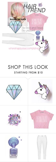 """Be Bold and Be Brave, be a unicorn!!!!"" by wherehappyisaccomplished on Polyvore featuring Unicorn Lashes, The Gypsy Shrine, Zhenzi and unicornhair"