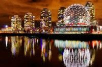 Vancouver Science World Night View, BC, Canada