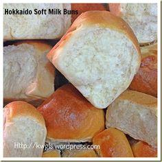 Creams and Milk Make These Buns Worth To Try –Hokkaido Soft Milk Buns and Hokkaido Dome - Guai Shu Shu Bread Maker Recipes, Baking Recipes, Dessert Recipes, Breakfast Recipes, Cream Bun, Milk Bun, Japanese Bread, Recipe Of The Day, Hot Dog Buns