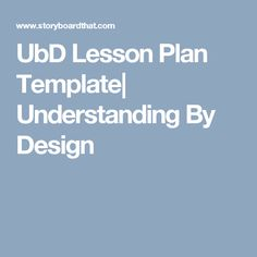 Backward Planning Template Backward Design Instructional Planning Template Doc Lessons