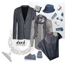 """""""Dark Denim"""" by valentina-jerkovic ❤ liked on Polyvore featuring Armani Collezioni, Christian Louboutin, American Coin Treasures, Incase, Ray-Ban, Victorinox Swiss Army, Levi's, Givenchy, Vivienne Westwood and Ted Baker"""