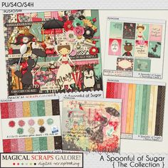 {A Spoonful of Sugar} Digital Scrapbook Collection by Magical Scraps Galore, available at Gingerscraps and The Digichick http://store.gingerscraps.net/A-Spoonful-of-Sugar-collection.html   http://www.thedigichick.com/shop/A-Spoonful-of-Sugar-collection.html  #magicalscrapsgalore